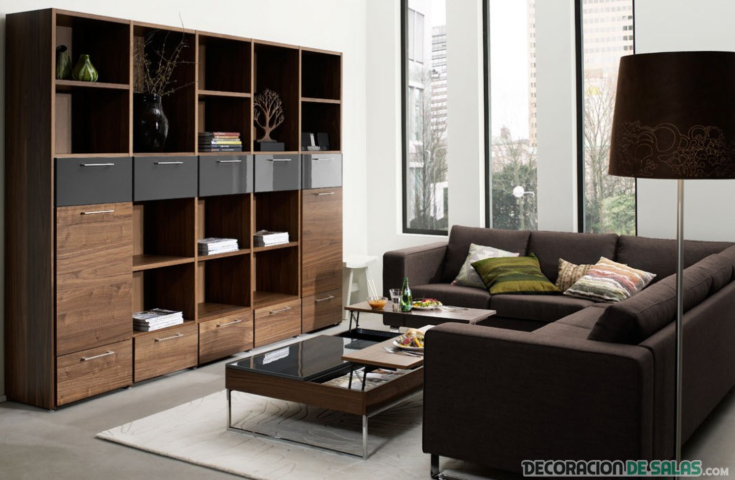 contemporary furniture ideas living room preciosas salas con sof 225 s en color marr 243 n 20971