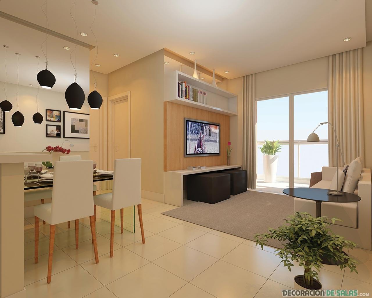 Preciosos salones que se sit an cerca de las ventanas - Salon piso pequeno ...