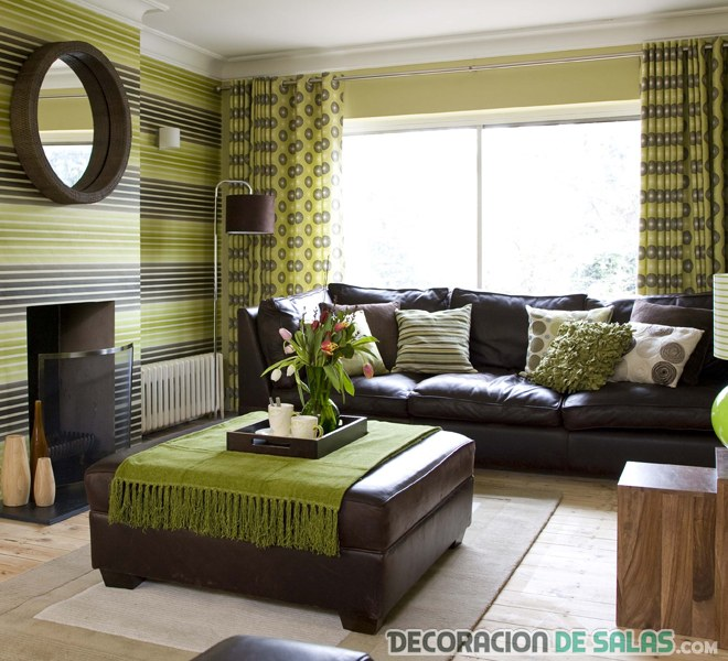 green white and brown living room salones combinados en verde y marr 243 n 24881