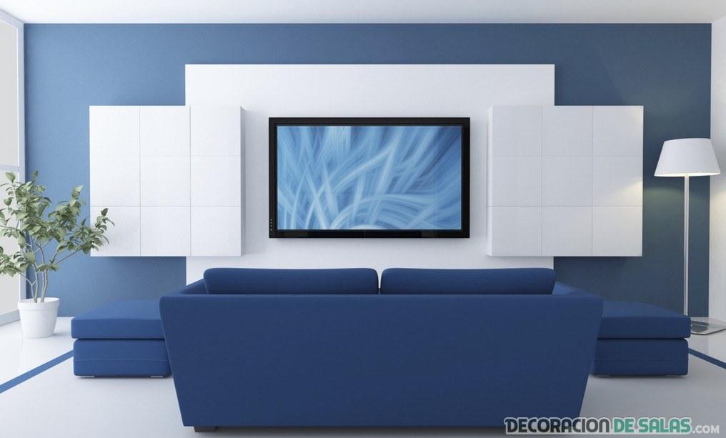 Blanco y azul para tu sal n m s veraniego for Color azul grisaceo para paredes