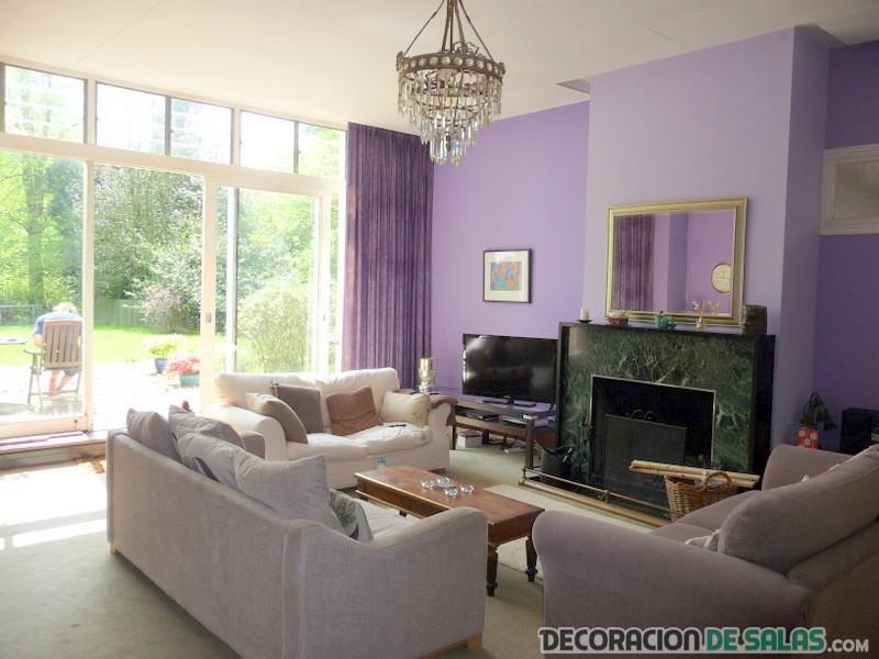 El lila tambi n acompa a nuestros salones - Color paredes salon ...