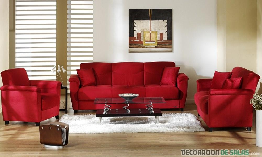 5 salones modernos con sof s en color rojo - Salon con sofa rojo ...