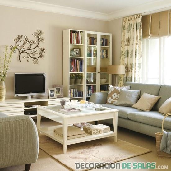 C mo decorar salones para crear un ambiente c modo - Decorar salones cuadrados ...