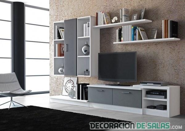 Salones modulares para espacios peque os - Muebles de salon modulares de madera ...