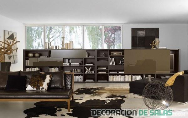 Salones en color chocolate un dulce para la decoraci n for Como cambiar un mueble de color oscuro a blanco