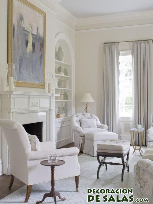 saln decorado en color blanco