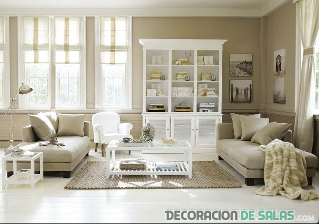 Elegantes y c modos salones en beige for Decoracion salon beige