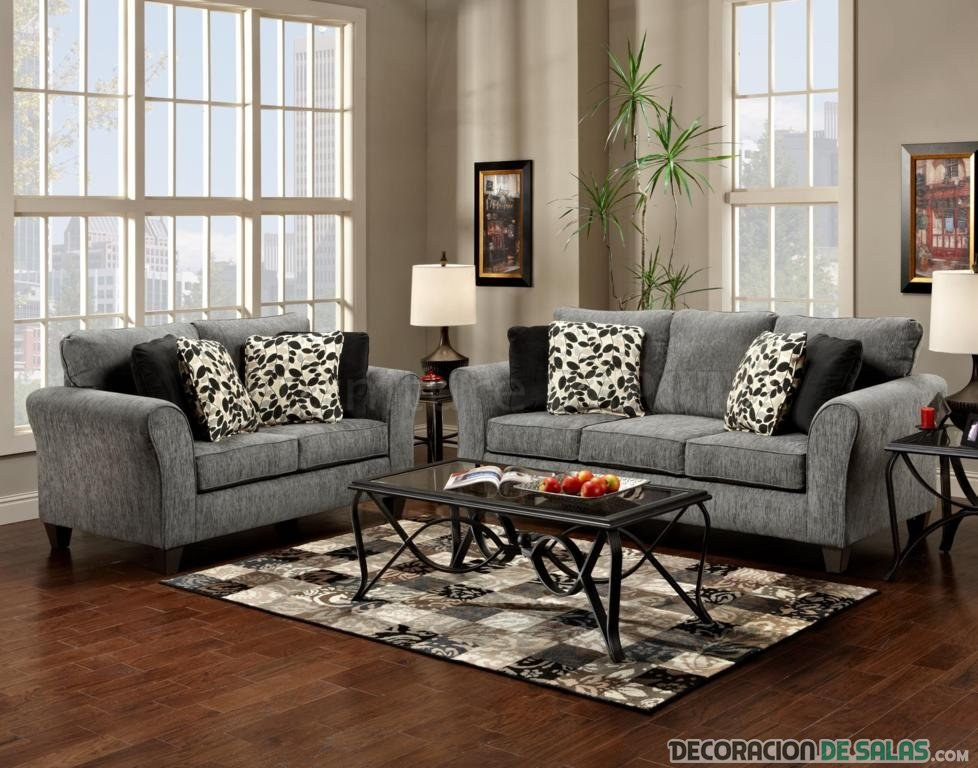 Sof s en color gris una elecci n acertada for Black and grey couch