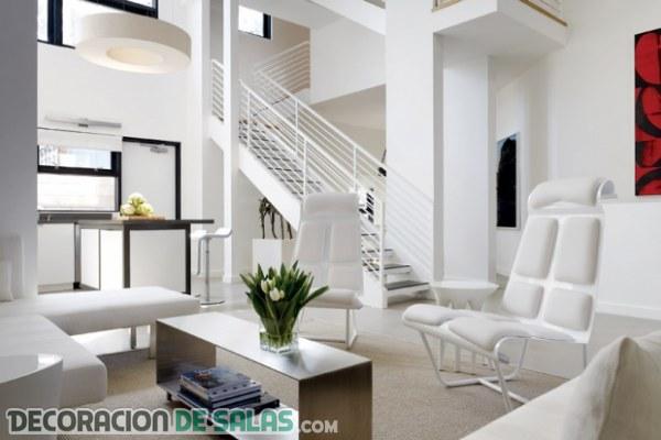 C mo decorar un sal n en color blanco for Cosas para decorar la sala