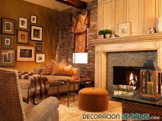 La chimenea como elemento de los salones r sticos - Muebles de piedra ...