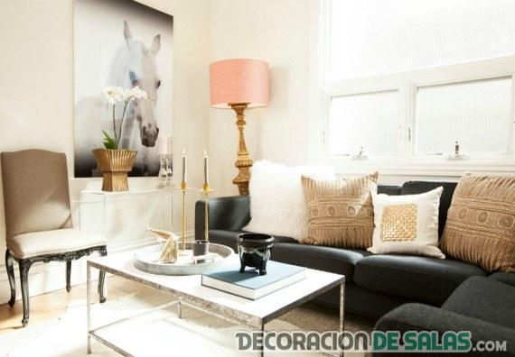 Salones con sofa negro dise os arquitect nicos - Salones con sofa negro ...