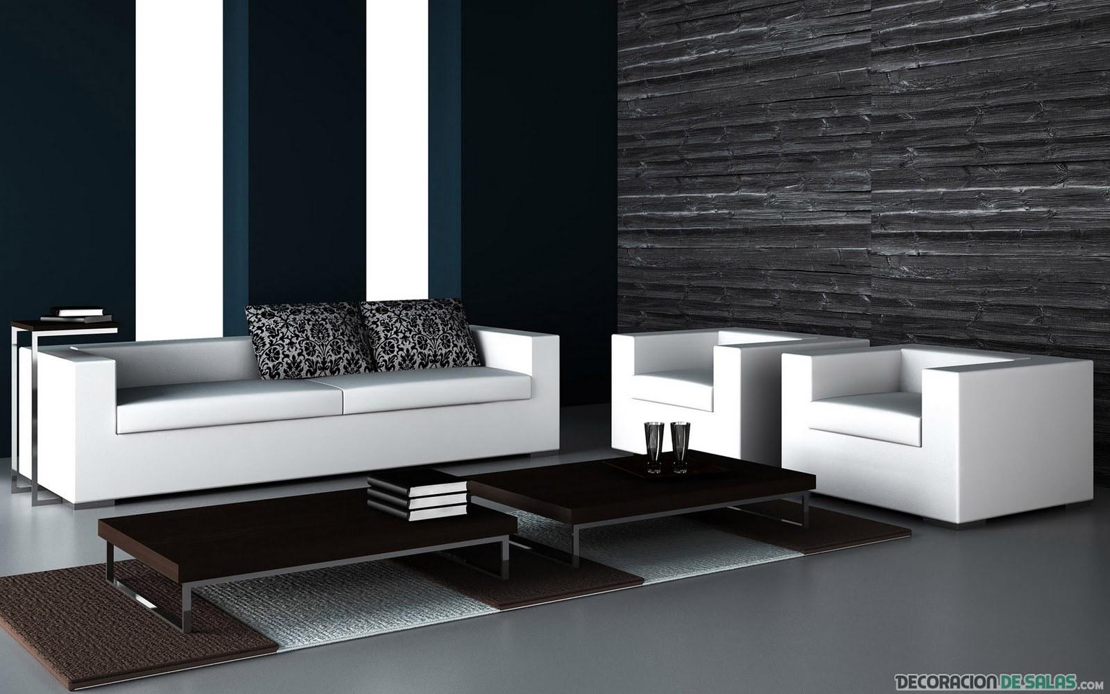 salón elegante en color básicos