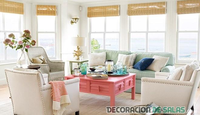 salón elegante en color pastel