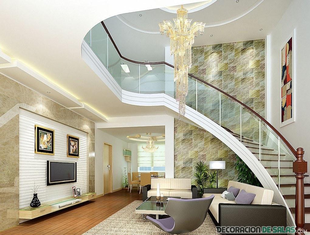 salón elegante luminoso blanco