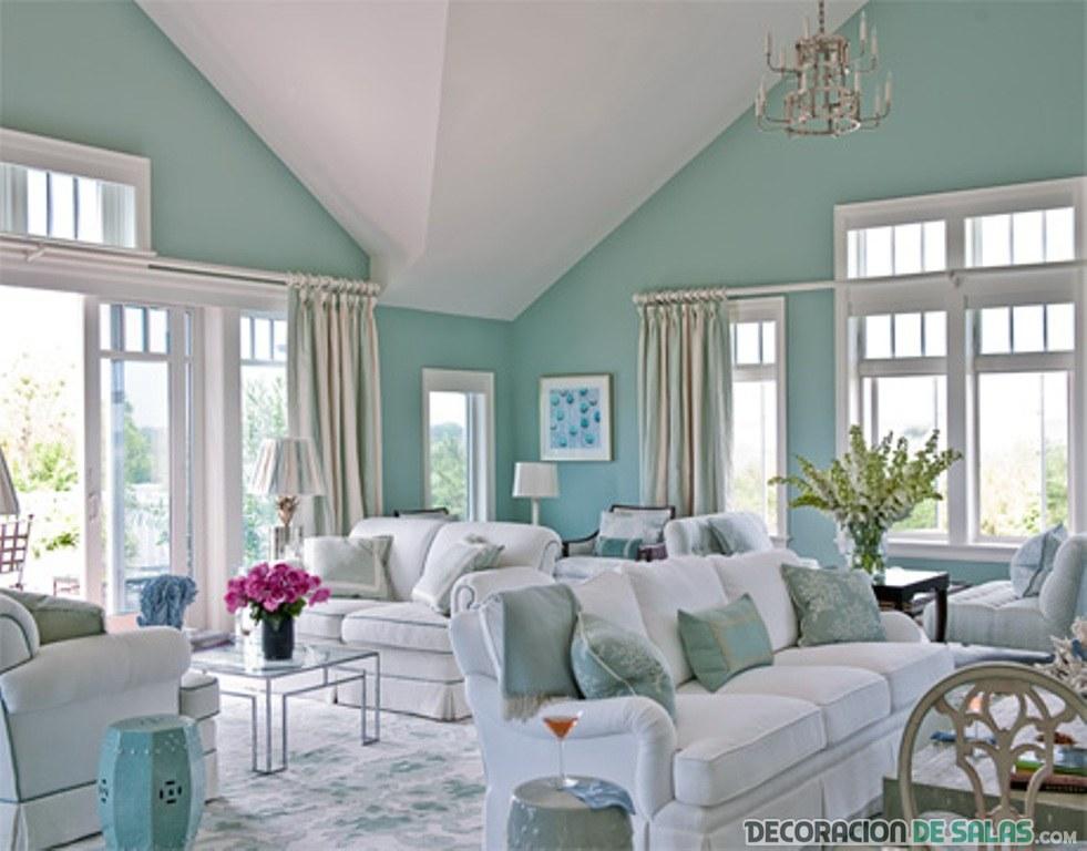 salon en azul lucite