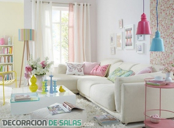 ¿Colores pastel para tu decoración de salones?