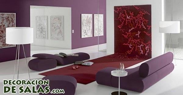 Salones a todo color - Colores que combinan con el granate en paredes ...