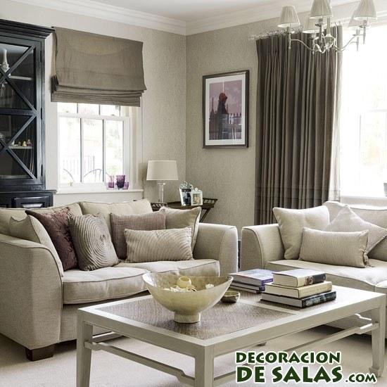Tres salones en colores neutros - Color para el salon ...