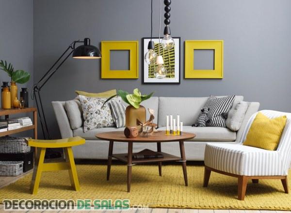 El gris y el amarillo para decorar nuestro hogar