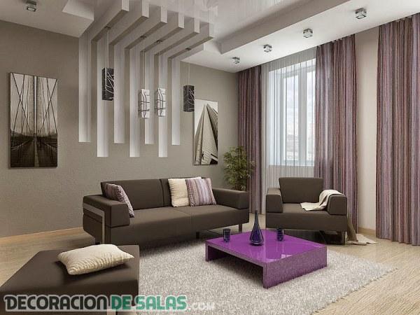 Salones modernos y cl sicos con falsos techos for Techos salones modernos