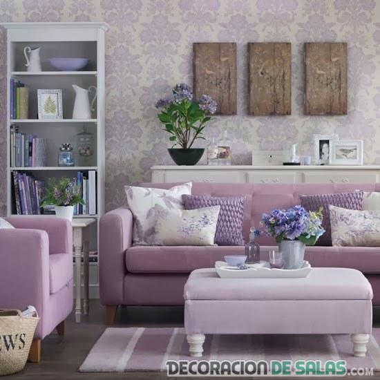 salón femenino en color malva