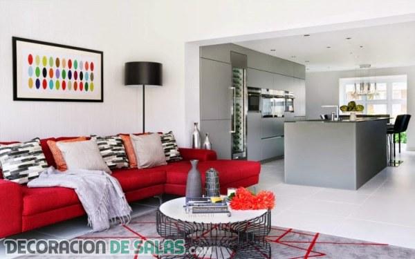 Atrapa la buena suerte gracias a tu decoraci n - Salon con sofa rojo ...