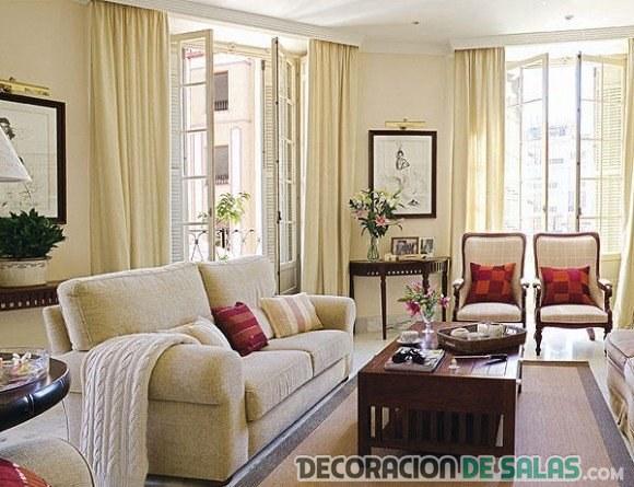 Salones acogedores con pinceladas de color - Sofas estilo colonial ...