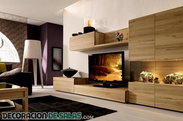 Salones contemporáneos con toques en madera
