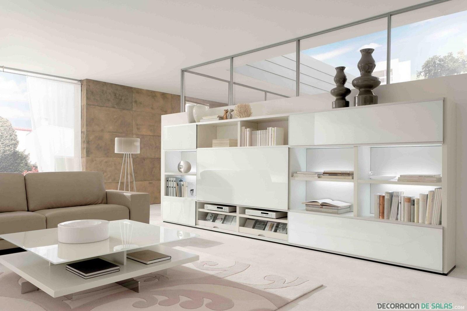 salón moderno en color beige