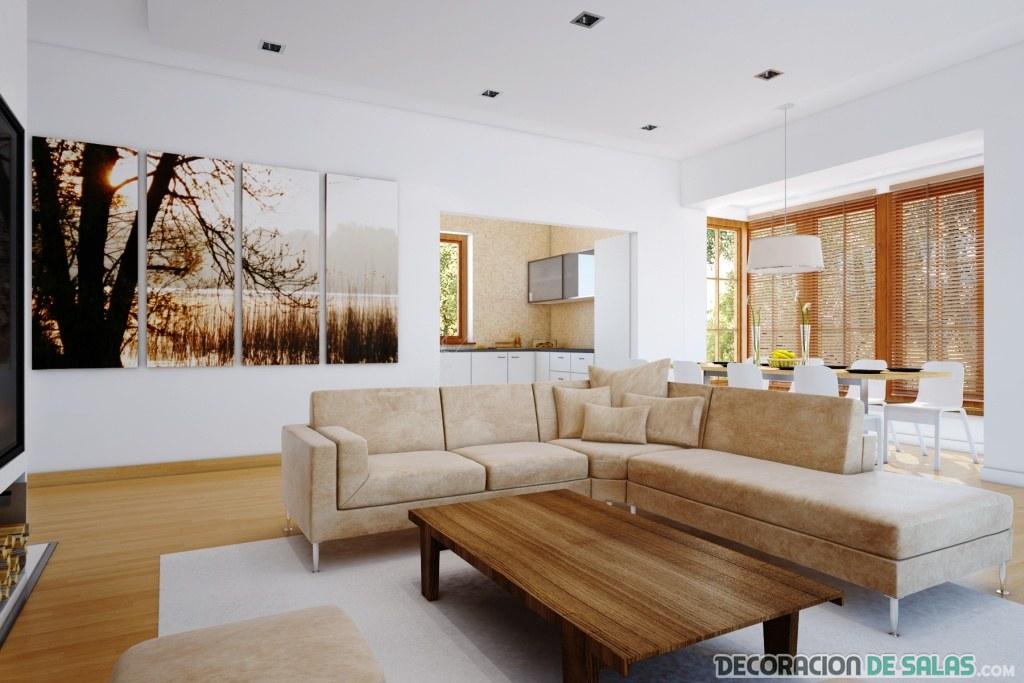 Decoración de salones modernos y elegantes