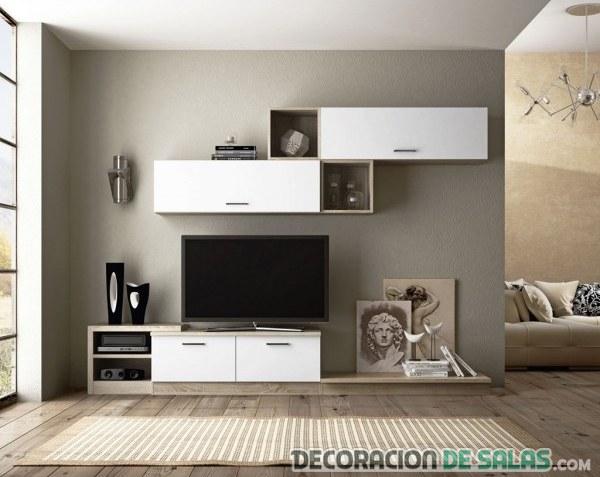 Salones modulares para espacios peque os for Muebles de salon para pequenos espacios
