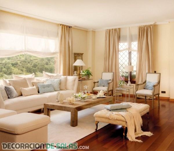 Ideas para renovar tus salones sin hacer obras for Cortinas salon clasico