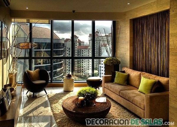salón pequeño con decoración moderna