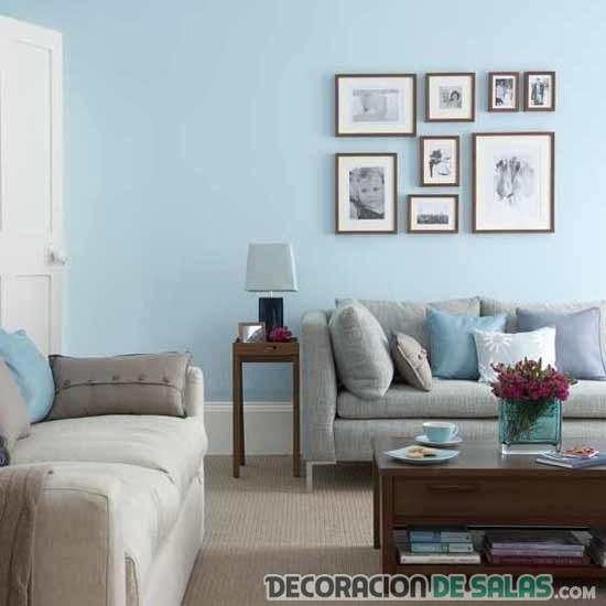 salón pequeño en color azul