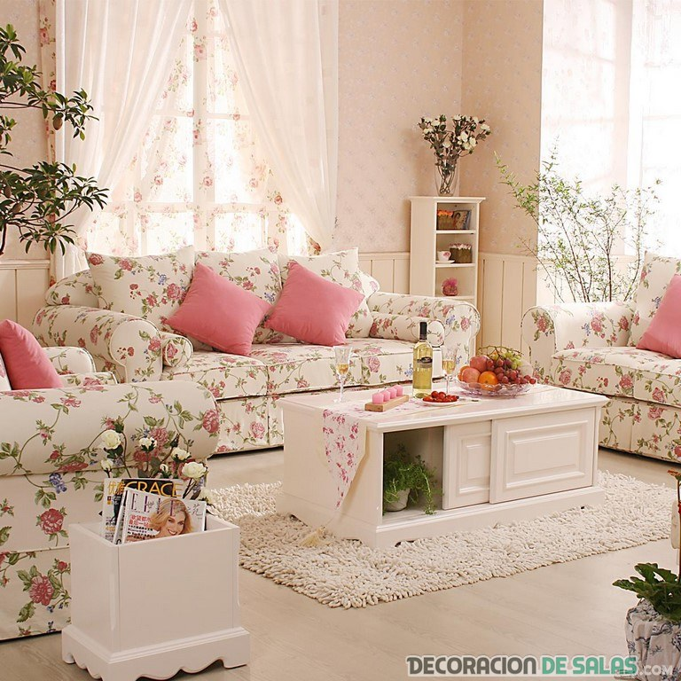 salon romantico rosa