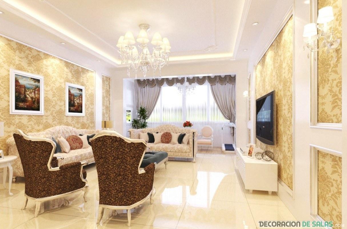 salón romántico y lujoso
