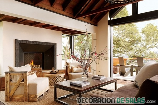 Decoraci n r stica para nuestros salones for Decoracion rustica
