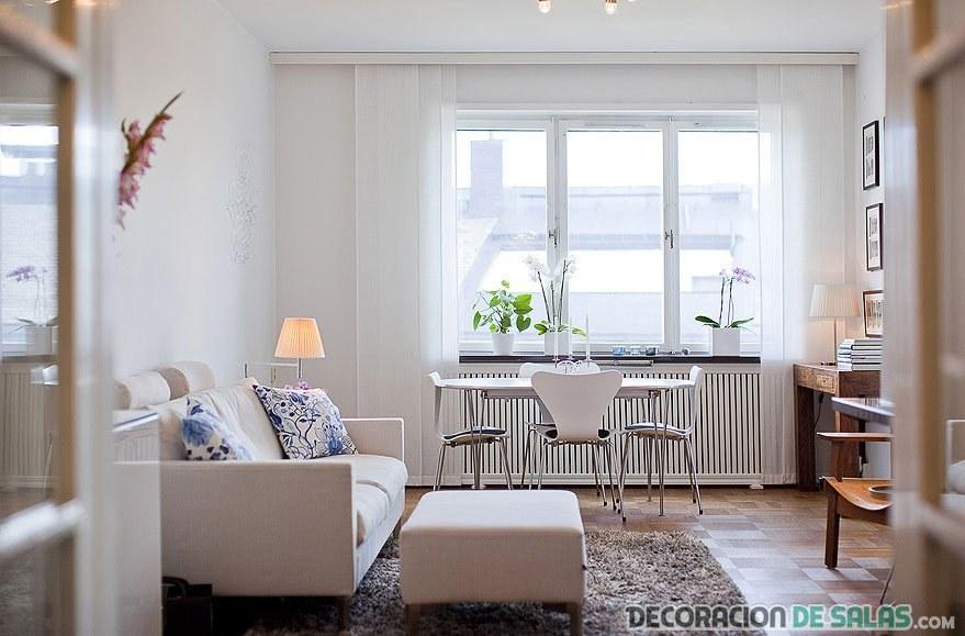 salón sencillo y recogido