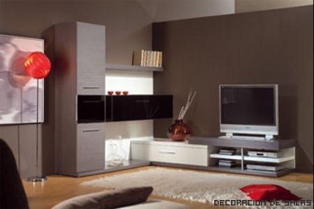 Salones con muebles oscuros simple decoracin de salones for Color paredes salon muebles oscuros