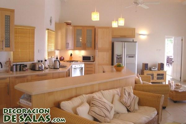 Dos en uno salones y cocinas for Cocina y salon unidos