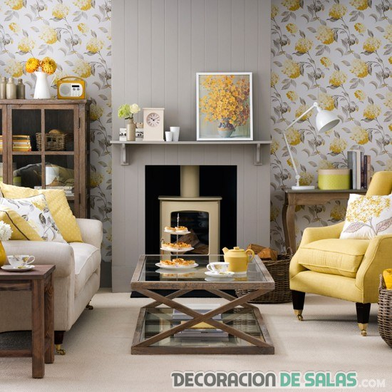 Salones con paredes originales for Living room decorating ideas uk