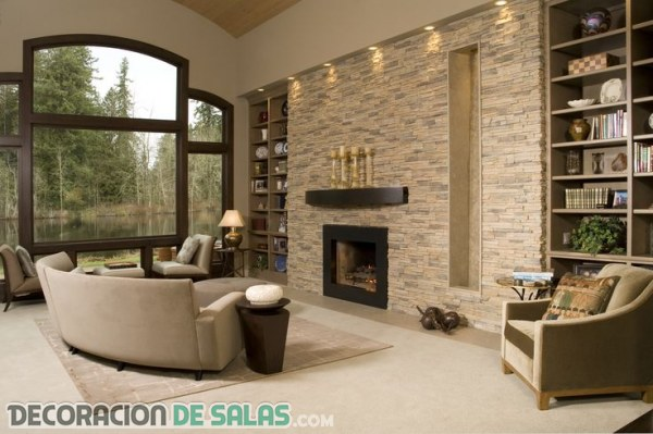 Paredes decoradas en piedra v rias id ias for Pinterest deco cuisine