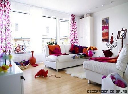 Te atrever as a decorar un sal n de rosa for Decoracion de ambientes living