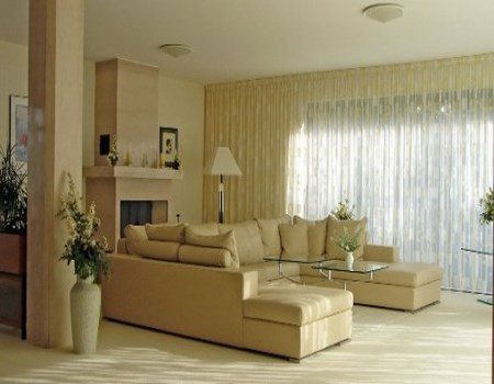 Salones en beige for Decoracion salon beige
