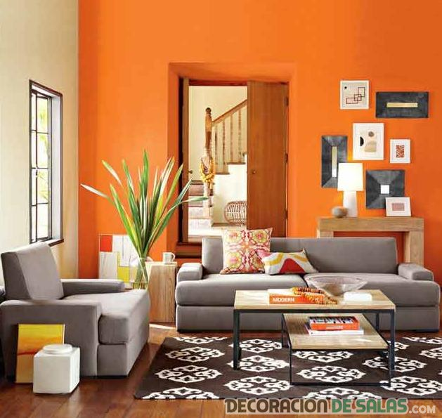 salones en color naranja