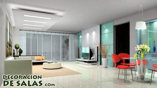 Modernos salones y comedor