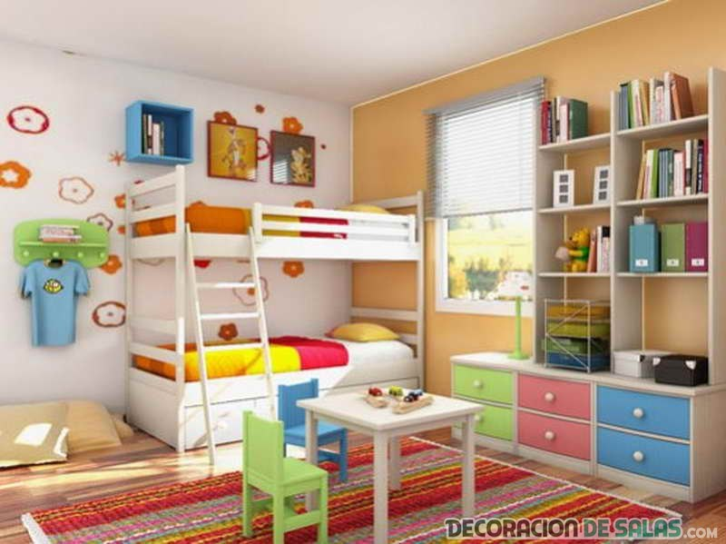 Estanter as infantiles en los dormitorios m s modernos - Estanteria pared infantil ...
