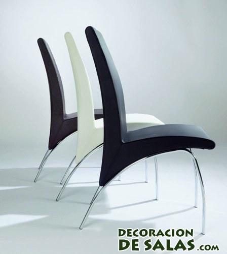 sillas con patas de aluminio