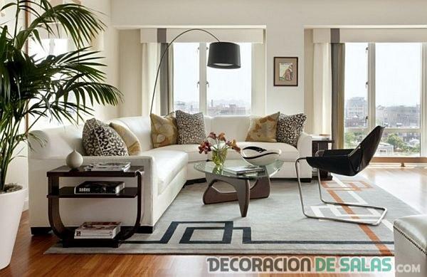 La belleza de los salones con sof s blancos - Decoracion sofa blanco ...