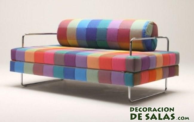 sofá cama multicolor